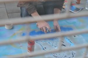 live spray paint art