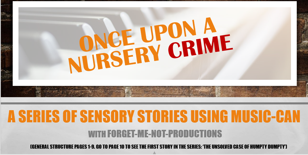 Once Upon a Nursery Crime Sensory stories